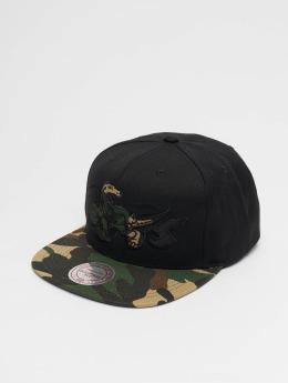 Mitchell & Ness Woodland Toronto Raptors Blind Snapback Cap Black
