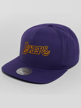 Mitchell & Ness Raised Perimeter LA Lakers Snapback Cap Purple