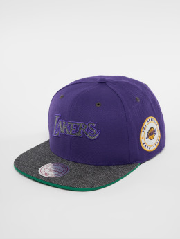 Mitchell & Ness HWC LA Lakers Melange Patch Snapback Cap Purple/Grey