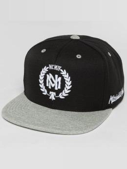 Mitchell & Ness snapback cap The 2-Tone Grey Heather Arch-Bound Laurel zwart