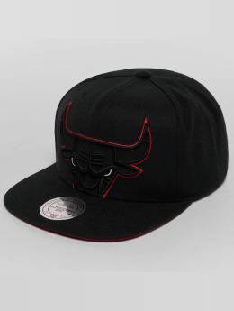 Mitchell & Ness Snapback Caps Raised Perimeter Chicago Bulls čern