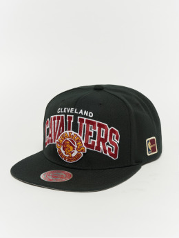 Mitchell & Ness Snapback Caps Black Team Arch Cleveland Cavaliers čern