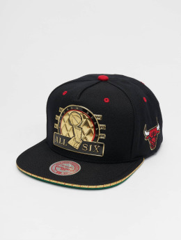Mitchell & Ness Snapback Caps All Six Chicago Bulls čern