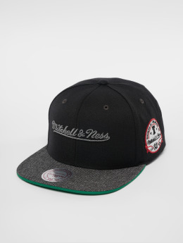 Mitchell & Ness Snapback Caps Own Brand Melange Patch čern