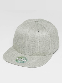 Mitchell & Ness Blank Flat Peak 110 Snapback Cap Grey Heather