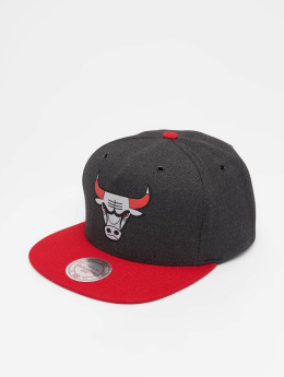 Mitchell & Ness Snapback Caps NBA Chicago Bulls Woven Reflective šedá