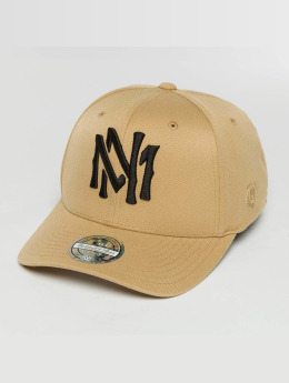 Mitchell & Ness The Sand And Black 2-Tone Interlocked Snapback Cap Sand