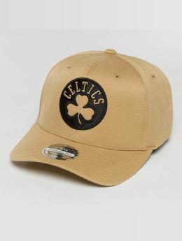 Mitchell & Ness Snapback Caps The Sand And Black 2-Tone NBA Boston Celtics beige