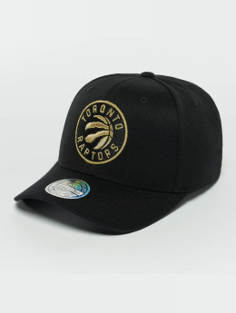 Mitchell & Ness The Black And Golden 110 Toronto Raptors Snapback Cap Black