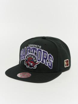 Mitchell & Ness Black Team Arch Toronto Raptors Snapback Cap Black