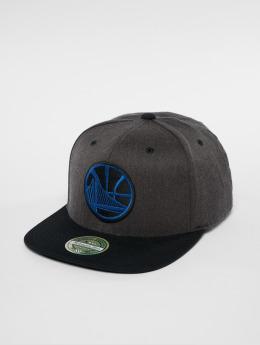 Mitchell & Ness Snapback Caps NBA Golden State Warriors 2 Tone 110 Flat grå