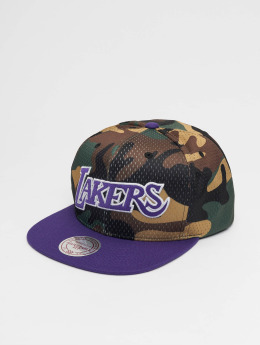 Mitchell & Ness Snapback Caps Woodland LA Lakers Cover moro