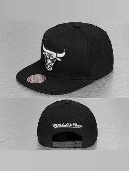 Mitchell & Ness Snapback Caps Black & White Logo Series musta