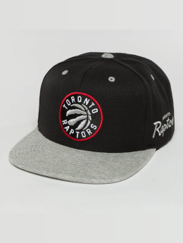 Mitchell & Ness Snapback Caps The 2-Tone Grey Heather Arch-Bound Toronto Raptors musta
