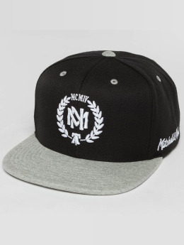 Mitchell & Ness Snapback Caps The 2-Tone Grey Heather Arch-Bound Laurel musta
