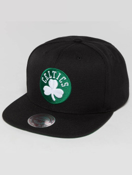 Mitchell & Ness Snapback Caps Wool Solid NBA Boston Celtics musta