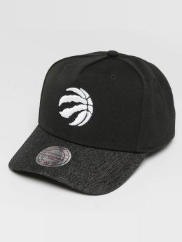 Mitchell & Ness Snapback Caps NBA Denim Visor Toronto Raptors musta