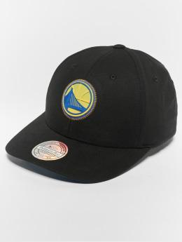 Mitchell & Ness Snapback Caps NBA Golden State Warriors Biowashed Zig Zag 110 Curved musta