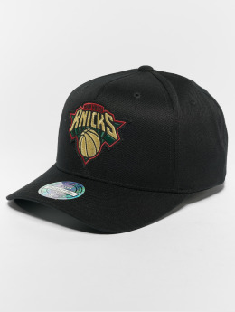 Mitchell & Ness Snapback Caps NBA New York Knicks Luxe 110 Curved musta