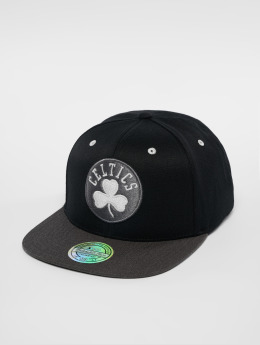 Mitchell & Ness Snapback Caps NBA Bosten Celtics Logo 110 Flat musta
