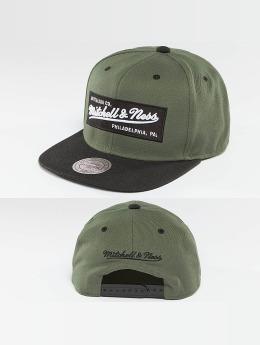 Mitchell & Ness Snapback Caps Box Logo olivový