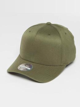 Mitchell & Ness Blank Flat Peak 110 Curved Snapback Cap Olive