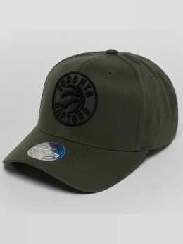 Mitchell & Ness The olive & Black 2 Tone Logo 110 Toronto Raptors Snapback Cap Olive