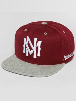 Mitchell & Ness Snapback Caps The 2-Tone Grey Heather Arch-Bound Interlocked punainen