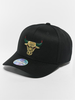 Mitchell & Ness Snapback Caps NBA Chicago Bulls Luxe 110 Curved svart
