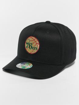 Mitchell & Ness Snapback Caps NBA Philadelphia 76ers Luxe 110 Curved svart