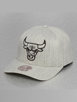 Mitchell & Ness 110 Chicago Bulls Flexfit Snapback Cap Grey Heather