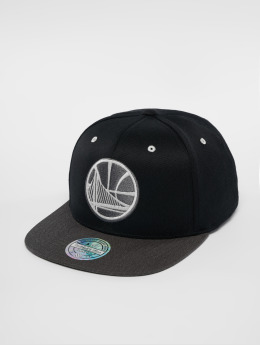 Mitchell & Ness Snapbackkeps NBA Golden State Warriors Logo 110 Flat svart