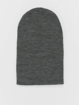 MSTRDS Beanie Basic Flap Long grey
