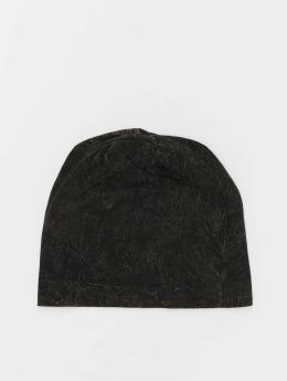 MSTRDS Beanie Stonewashed Jersey schwarz