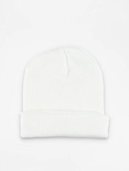 MSTRDS Beanie Basic Flap weiß
