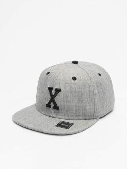 MSTRDS Casquette Snapback & Strapback X Letter gris
