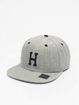 MSTRDS snapback cap H Letter  grijs
