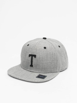MSTRDS snapback cap T Letter grijs