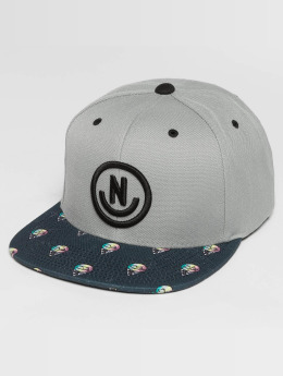NEFF Casquette Snapback & Strapback Daily SMile Pattern gris