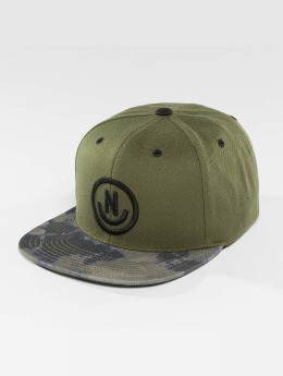 NEFF Casquette Snapback & Strapback Daily Smile Pattern olive