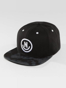 NEFF Snapback Cap Daily Smile Pattern schwarz