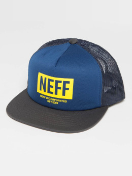 NEFF Corpo Trucker Cap Navy/Charcoal/Yellow