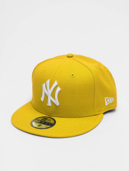 New Era MLB Basic NY Yankees 59Fifty Cap Cyber Yellow/White