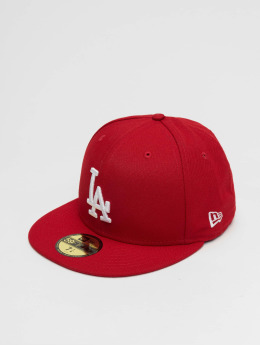 New Era Baseballkeps MLB Basic LA Dodgers 59Fifty röd