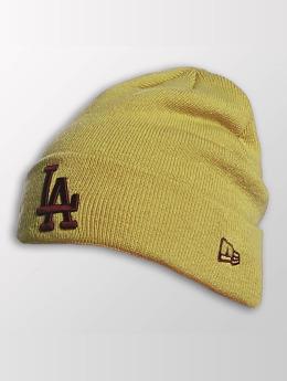 New Era Beanie Seasonal Cuff LA Dodgers geel