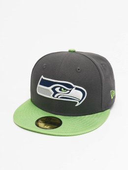 New Era Casquette Fitted NFL Ballistic Visor Seattle Seahawks gris