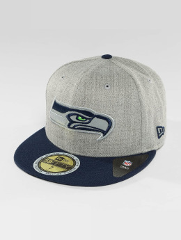 New Era Casquette Fitted Reflective Heather Seattle Seahawks gris