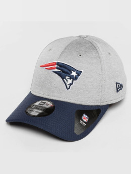 New Era Casquette Flex Fitted Jersey Hex New England Patriots gris