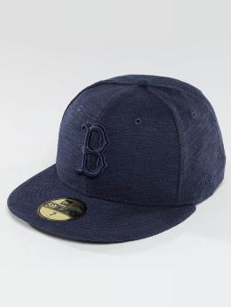 New Era Fitted Cap Slub blauw
