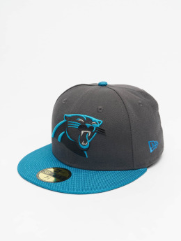 New Era Fitted Cap Ballistic Visor Carolina Panthers grau